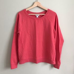 Old Navy // Ribbed Crew Neck Sweater in Coral